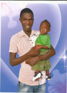 Emmanuel Gokpolu and son Larry, from Liberia.