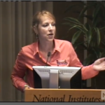 Lori Sames at the Recombinant DNA Advisory Committee meeting.