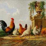 Albertus_Verhoesen_Chickens_and_park_vase
