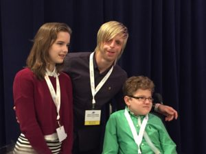 Madison Shaw, Jono Lancaster, and Hunter Pageau spoke about living with their genetic diseases at the NORD Breakthrough Summit.