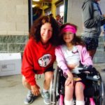 Fundraising is a big part of life for rare disease families. Me with Hannah Sames at the Hannah's Hope Run a year ago.