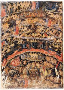 Bartolomeo_Di_Fruosino_-_Inferno,_from_the_Divine_Comedy_by_Dante_(Folio_1v)_-_WGA01339