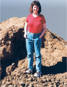 Me standing on a pile of pig poop at the U of Georgia (credit Barry Palevitz)